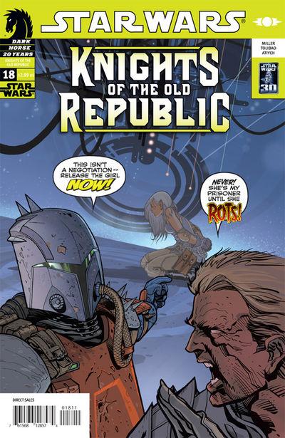 Caballeros de la Antigua República 18: Noches de ira, parte 3