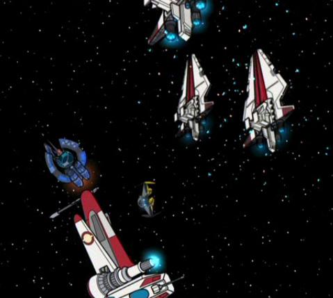 Batalla espacial no identificada (Saesee Tiin)
