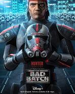 Star Wars The Bad Batch Hunter posterLA