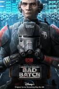 Star Wars The Bad Batch Echo poster