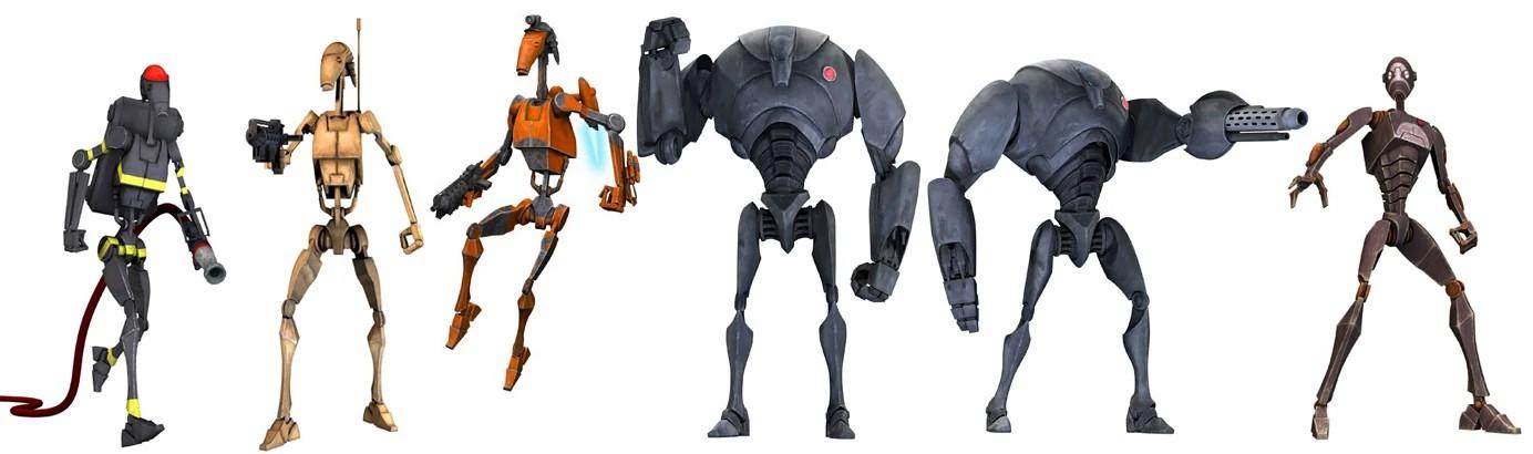 Droide de combate serie B/Leyendas