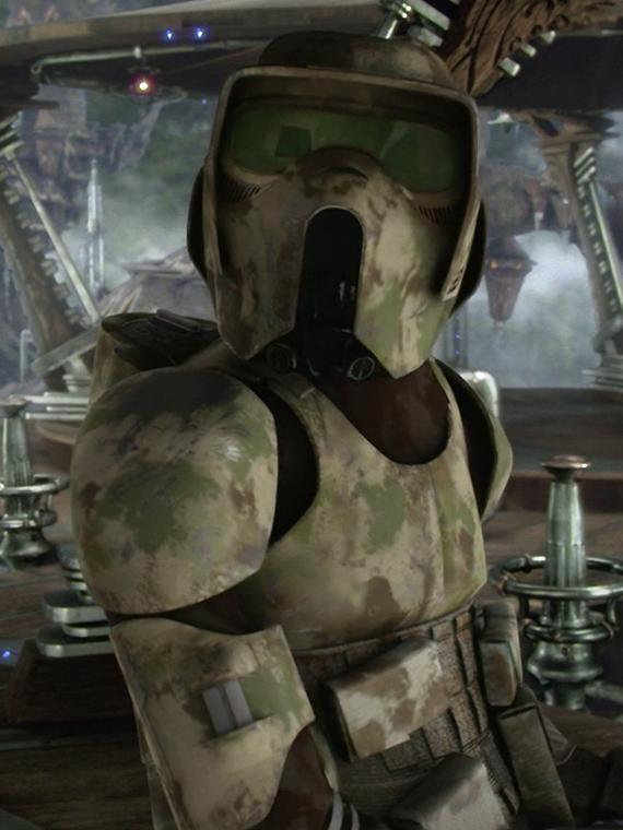 Soldado clon del pantano no identificado