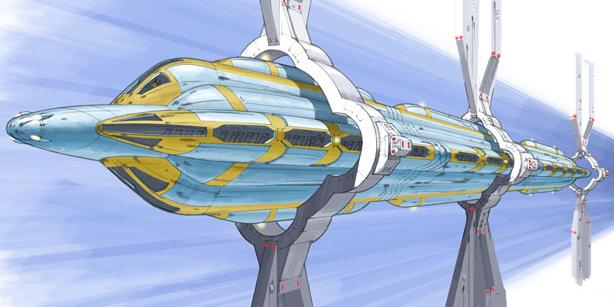 Tren elevado de Coruscant maglev
