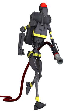Droide de combate bombero/Leyendas