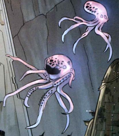 Cefalópodo flotante de Taivas