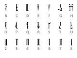 Mandaloriano (sistema de escritura)/Leyendas