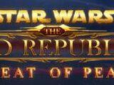 The Old Republic, La Paz bajo Amenaza Acto 1: El Tratado de Coruscant