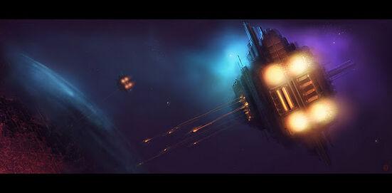 Flota Imperial Bombardeo Orbital Macrocañones Formacion Ecumenopolis Wikihammer