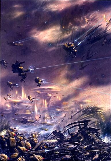 Tiranidos flota gorgona vs tau 02.jpg