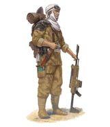Gi incursores desierto tallarn soldado