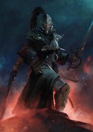 Eldar brujo espada bruja