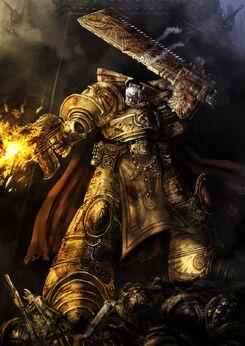 Rogal Dorn en medio de un combate.jpg