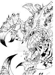 Boceto Cárnifex Bilius Bestia de Bilis