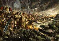 Imperio custodes vs Orkos Bestia