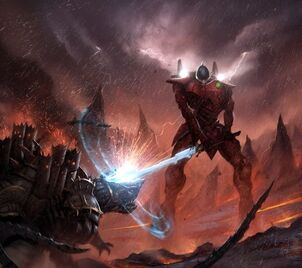 Eldar titan vs ingenio demoniaco wikihammer