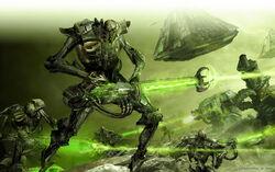 Guerreros Necrones Ultramarines Marines Espaciales Armas Gauss Ejercito Necron Wikihammer