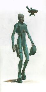 Piloto Casta del Aire T'au Karl Kopinski ilustración