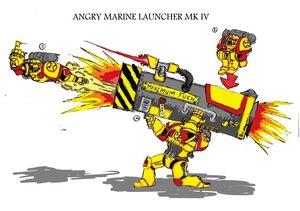 Lanzador de Angry Marines Wikihammer 40K