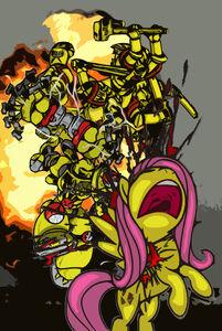 Angry marine vs Ponys wikihammer 40K
