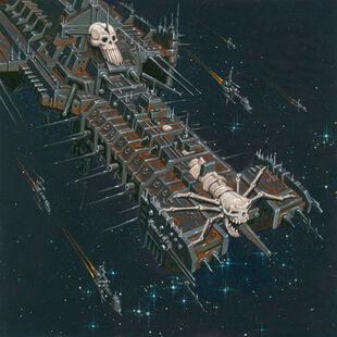 Horus battle barge por David Deen