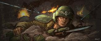 Guardia imperil soldado cubierto fuego enemigo.jpg
