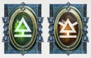 Simbolo eldar runa armas de apoyo