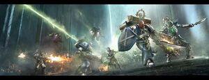 Caballeros Astrales Mundomáquina Necrones ilustración