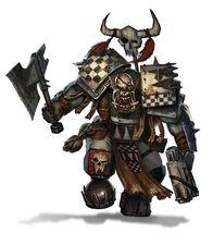 Orkos klan goff estandarte