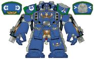 Centurion Devastador Ultramarines Diseño Blueprint