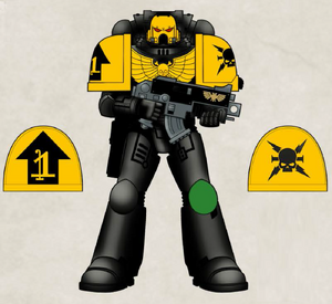 Aragutak Destructores Marines Espaciales Primaris 7ª Edición ilustración