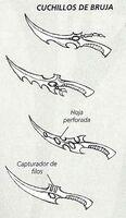 Cuchillos de Bruja Eldars Oscuros 5ª Edición ilustración