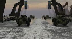 Desfile Bahía Victoria Guardia Imperial Kronus Dawn of War Dark Crusade screenshot