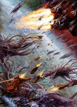 Marines angeles sangrientos desgarradores carne vs flota enjambre.jpg