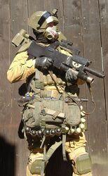 Cosplay soldado tropas desembarco elysianas