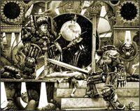 Horus vs Emperador Exterminador 1ª Edición ilustración