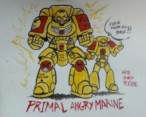 Primaris Angry Marine by Sven Winterwind