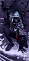 Explorador Proscrito Eldars ilustración