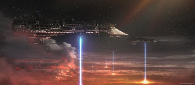 Flota bombardeo orbital