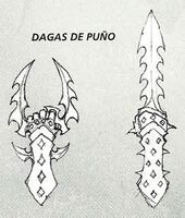 Dagas de puño Eldars Oscuros 5ª Edición ilustración