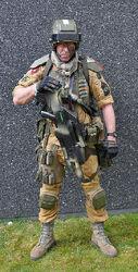 Cosplay sargento tropas desembarco elysianas 2