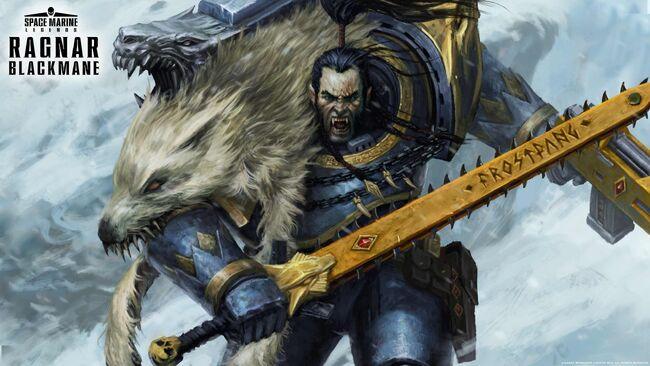 Wallpaper Ragnar Blackmane Aaron Dembski-Bowden Señor Lobo Lobos Espaciales.jpg