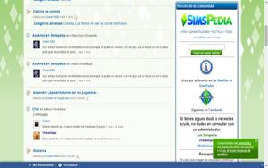 Imagen del panel de ayuda en es.sims