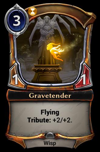 Gravetender card