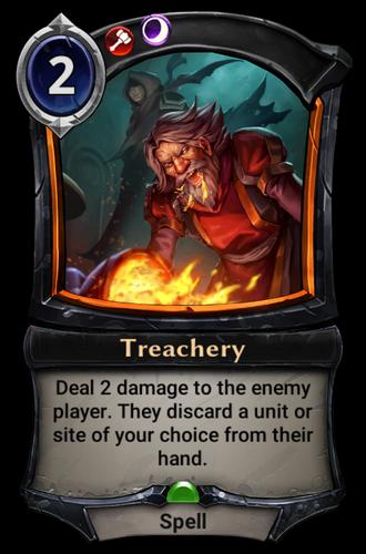 Treachery card