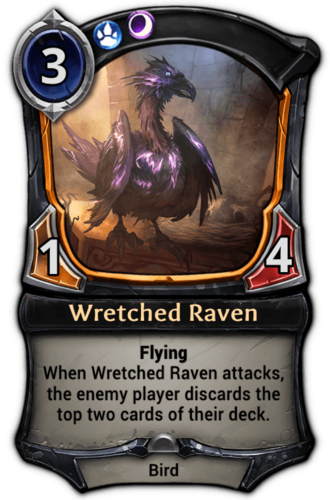 Wretched Raven card