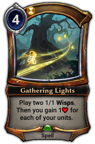 Gathering Lights card