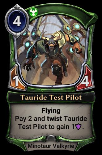 Tauride Test Pilot card
