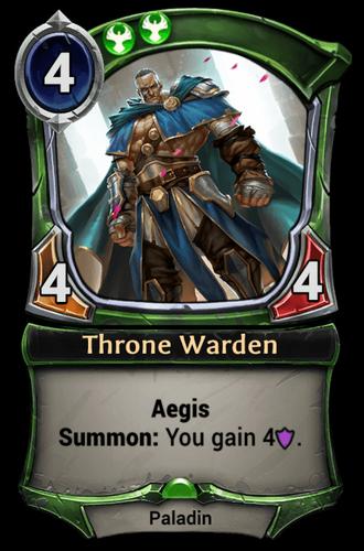 Throne Warden card