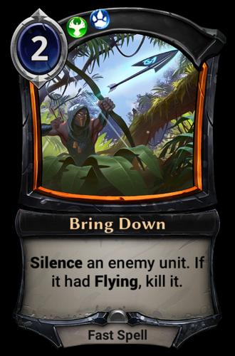 Bring Down card