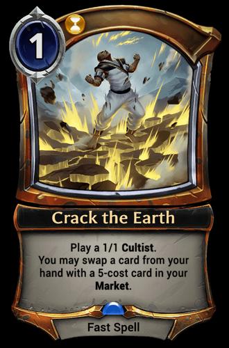 Crack the Earth card